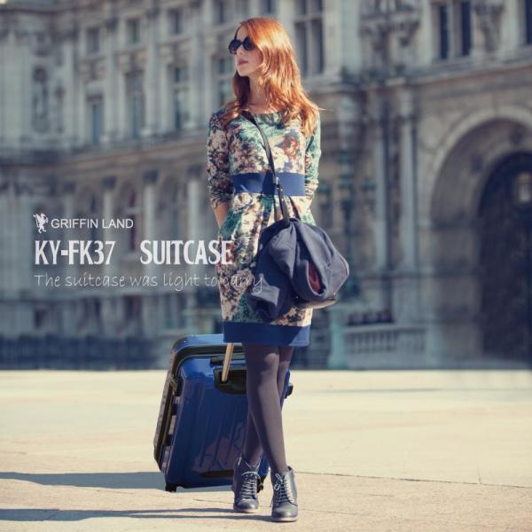 スーツケース Mサイズ 中型 軽量 約69L 拡張機能 YKKファスナー 人気 1年間保証 ファスナータイプ ハードケース 旅行かばん|dream-shopping|03