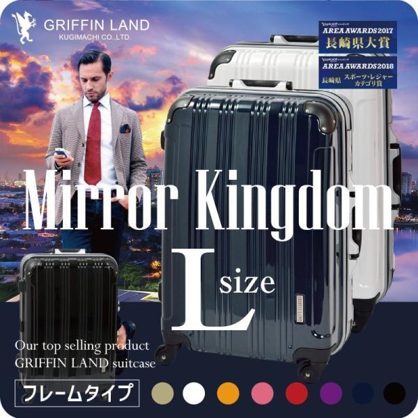 スーツケース グリフィンランド スーツケース 軽量 アルミフレーム Lサイズ キャリーケース
