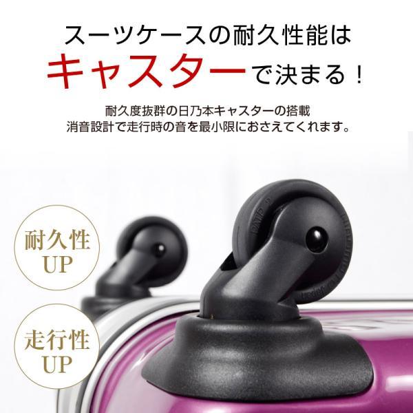スーツケース 人気 グリフィンランド スーツケース 軽量 アルミフレーム ハード 日乃本錠前 グリスパック スーツケース M キャリーケース TSA|dream-shopping|02