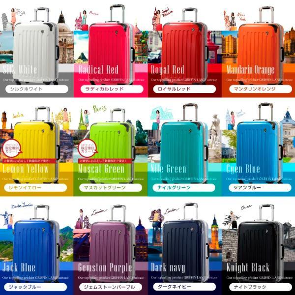スーツケース 人気 グリフィンランド スーツケース 軽量 アルミフレーム ハード 日乃本錠前 グリスパック スーツケース M キャリーケース TSA|dream-shopping|07