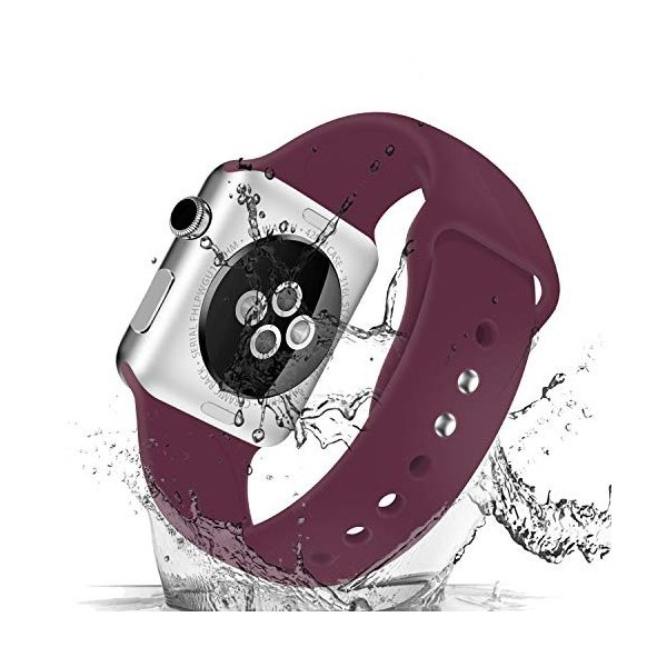 AIGENIU コンパチブル Apple Watch バンド、ダブルボタンシリコン柔らかいアップルウォッチ スポーツ 交換 バンド、|dreamcshop|02