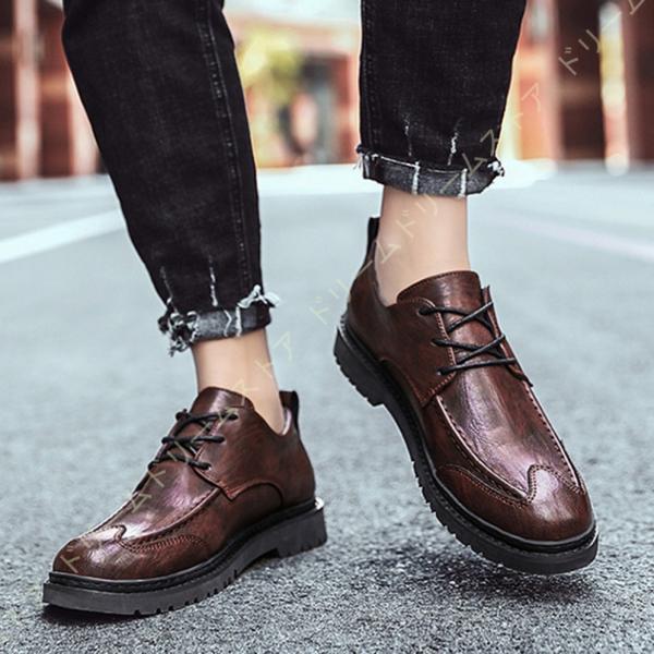 メンズマーチンシューズブーツワークブーツローカット革靴レースアップシューズエンジニアカジュアル防滑防水軽量快適屈曲性ファッション