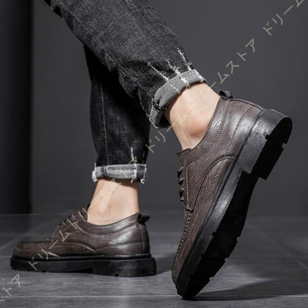 メンズ紳士靴ショートブーツ革靴ローカット厚底レースアップファスナーマーチン歩きやすいコンフォートおしゃれ防滑コンフォートシューズ
