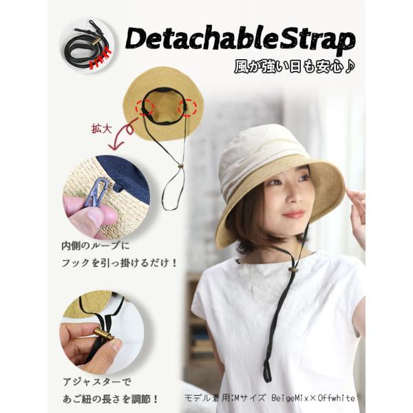 帽子 レディース UVカット バックリボン 綿麻素材のオシャレなUVハット 紫外線対策 春 夏|dreamhats|05