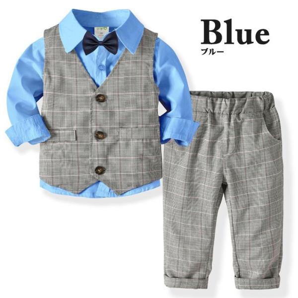 子供 スーツ 4点セット 男の子 ベビー フォーマル スーツ 子供服 赤ちゃん キッズ フォーマル 男の子 80 90 100 110 120 130|dreamkikaku|03