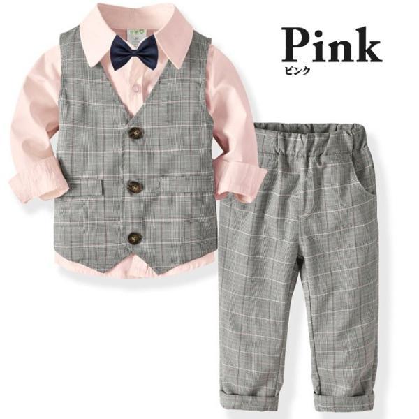 子供 スーツ 4点セット 男の子 ベビー フォーマル スーツ 子供服 赤ちゃん キッズ フォーマル 男の子 80 90 100 110 120 130|dreamkikaku|04