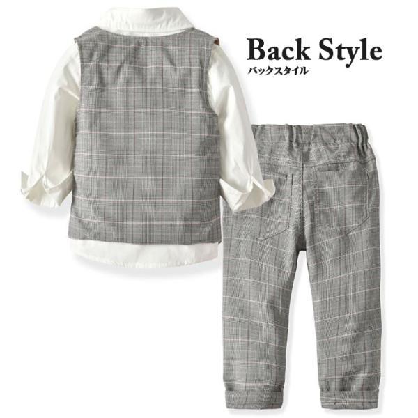 子供 スーツ 4点セット 男の子 ベビー フォーマル スーツ 子供服 赤ちゃん キッズ フォーマル 男の子 80 90 100 110 120 130|dreamkikaku|05