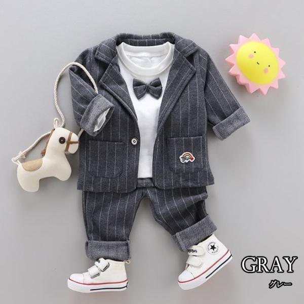 男の子 フォーマル ベビースーツ ストライプ スーツ 子供服 ベビー服 紳士風 フォーマル 赤ちゃん 子供 男の子|dreamkikaku|03
