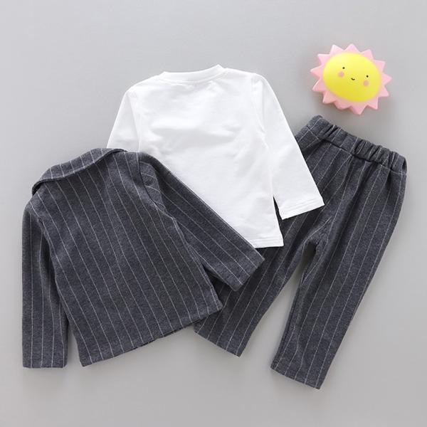 男の子 フォーマル ベビースーツ ストライプ スーツ 子供服 ベビー服 紳士風 フォーマル 赤ちゃん 子供 男の子|dreamkikaku|05