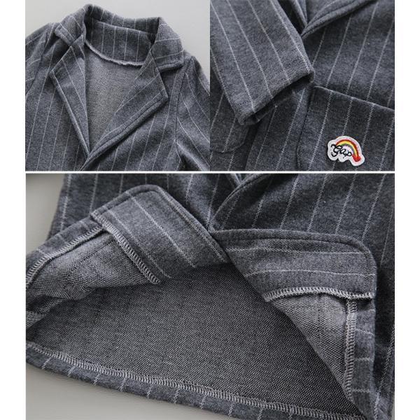 男の子 フォーマル ベビースーツ ストライプ スーツ 子供服 ベビー服 紳士風 フォーマル 赤ちゃん 子供 男の子|dreamkikaku|08