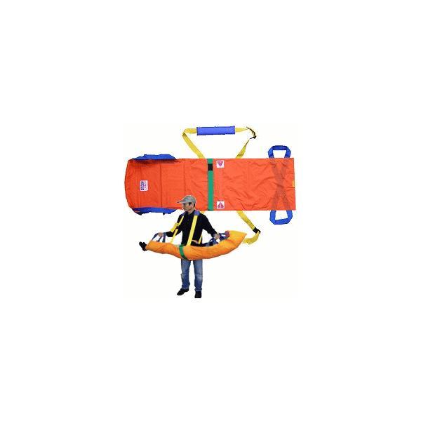 救護 災害 送料無料 非常時の避難対策に! ワンタッチ式ベルト担架ベルカ SB-180(収納袋付)