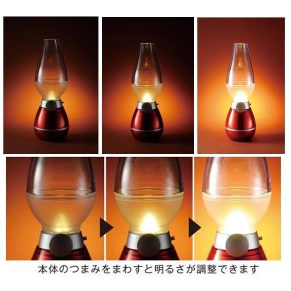 不思議なアンティーク スタイリッシュ! LEDランプ 電池式 息を吹きかけてON/OFFする つまみで調光もできる |dreamrelife-store|02
