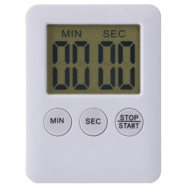デジタルキッチンタイマー(ホワイト) COK-T-80W 100分計 オートパワーオフ(約5分) コンパクトで場所をとらない マグネット付き|dreamrelifeshop2