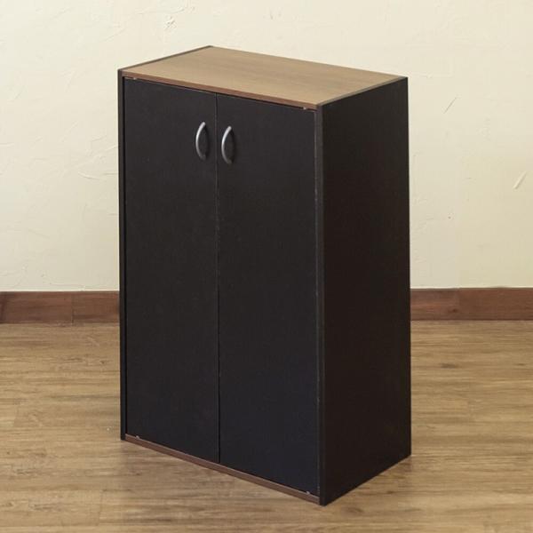 GRANZ 扉付シェルフ カラーボックス お部屋をスッキリ見せる 扉付棚板2枚の可動棚 収納 HMP-28BK/WH ブラック・ホワイト|dreamrelifeshop2|06