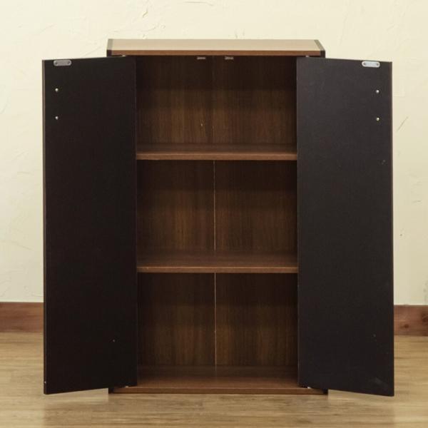 GRANZ 扉付シェルフ カラーボックス お部屋をスッキリ見せる 扉付棚板2枚の可動棚 収納 HMP-28BK/WH ブラック・ホワイト|dreamrelifeshop2|04