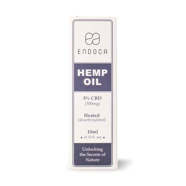 ENDOCA HEMP OIL 300mg  CBD3% 10ml|dreamspll|03