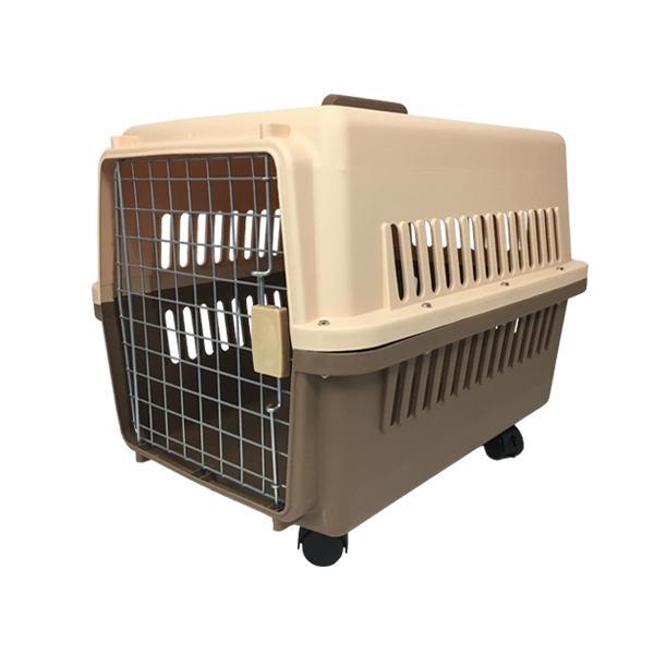 ペットキャリーケース Lサイズ 中型犬 ハードタイプ キャスター付き 65×46×46cm 送料無料