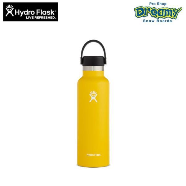 Hydro Flask ハイドロフラスク 21 oz Standard Mouth #5089014 25 Sunflower 621ml ステンレスボトル 真空断熱構造 パウダーコーティング アウトドア マイボトル