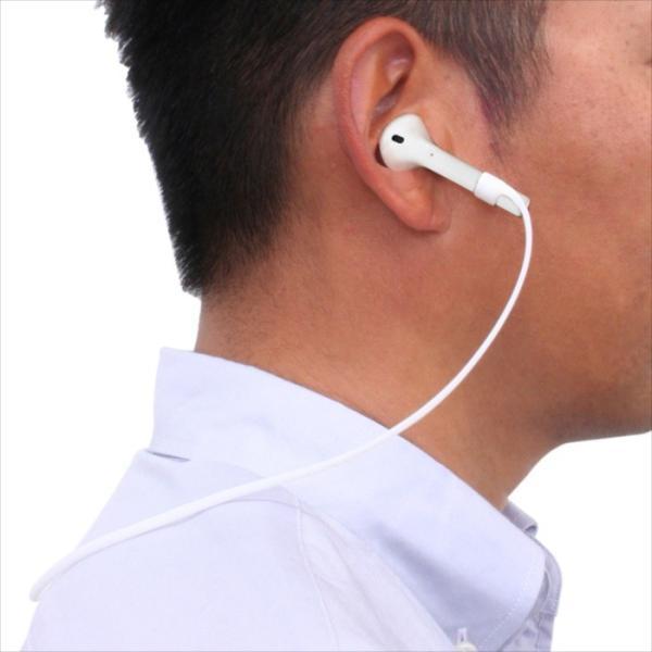 [AirPods専用]ネックストラップ ホワイト 藤本電業 SN-AP01WH