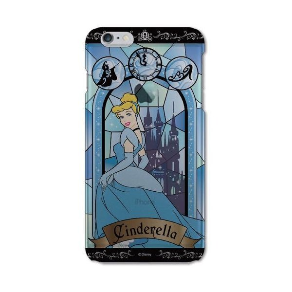 グルマンディーズ ディズニー ステンドグラス柄 iPhone6Plus対応シェルジャケット シンデレラ DN-229D dresma