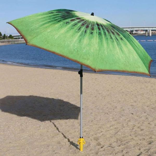 ビーチパラソル 180cm パラソル キウイ 屋外用 日除け 海水浴 アウトドア ベランダ ガーデン 屋外 大型 傘 おしゃれ