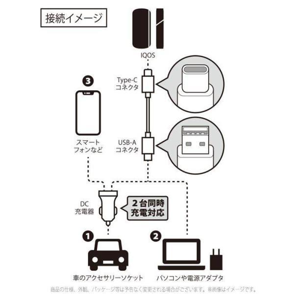 IQOS3 アイコス3 IQOS3Multi 対応 車載用DC充電器 Type-Cタフケーブル付属 アイコス3マルチ 充電器 DC充電器 カーチャージャー スマホ充電対応|dresma|03