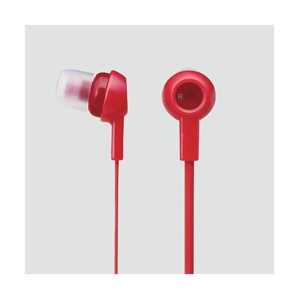エレコム ステレオヘッドホン (耳栓タイプ) レッド EHP-C3520RD