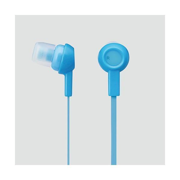 エレコム ステレオヘッドホン (耳栓タイプ) ライトブルー EHP-C3520BUL
