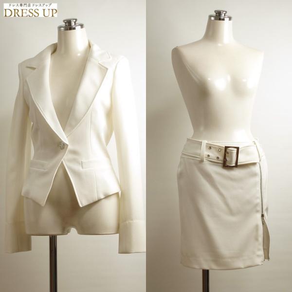 0051c3c57056e ... イベントコンパニオン・キャバスーツ7号インナーストライプスーツ 白 P0385WS-SALE30|dress ...