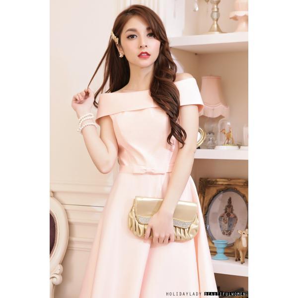 916ba96966917 ... パーティードレス 3色 ミニドレス ミニ 膝丈 サテンドレス ワンピース 大きいサイズ 結婚式 ...