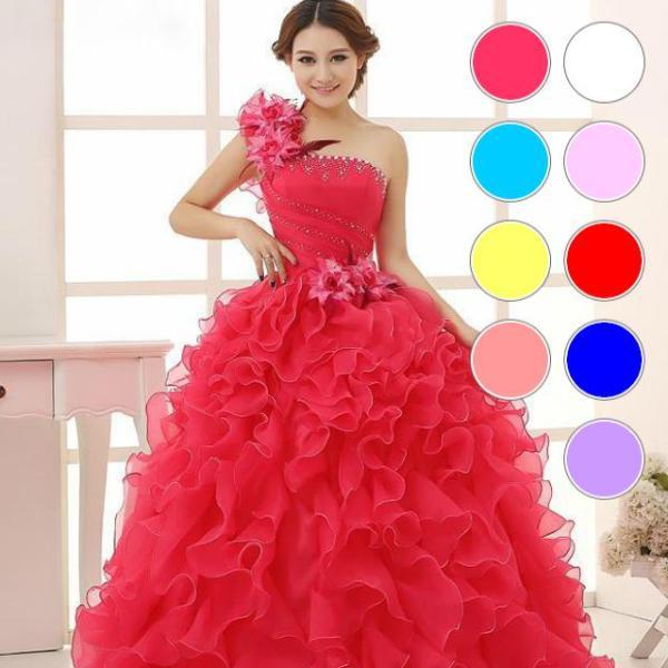 0f800dae32846 ウエディングドレス 4色 カラードレス ロングドレス ウェディングドレス 結婚式 花嫁 二次会 発表会 ...