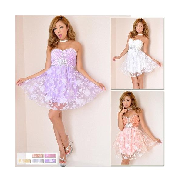 afa78c08372f7 Dress Angelo ドレス キャバ ドレスキャバ ナイトドレス パーティードレスラメ入りローズレースビジュープリンセス ...