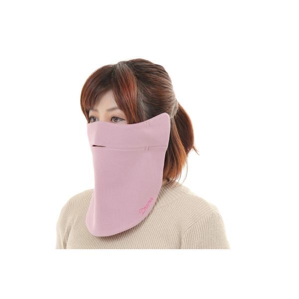 UVカットフェイスマスク 紫外線防止用ドレスマスク お肌に優しいストレスフリー スリット開楽呼吸 光触媒・高機能素材二重仕立 プライムローズ/ピンクフランベ|dressmask-drema|02