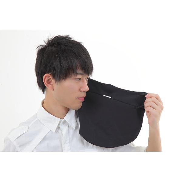 UVカットフェイスマスク 紫外線防止用ドレスマスクレギュラー ズレにくい肌ストレスフリー 楽呼吸 光触媒・高機能性素材を二枚重ね 男性に人気の色ブラック|dressmask-drema|04