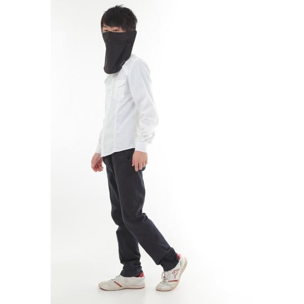 UVカットフェイスマスク 紫外線防止用ドレスマスクレギュラー ズレにくい肌ストレスフリー 楽呼吸 光触媒・高機能性素材を二枚重ね 男性に人気の色ブラック|dressmask-drema|05