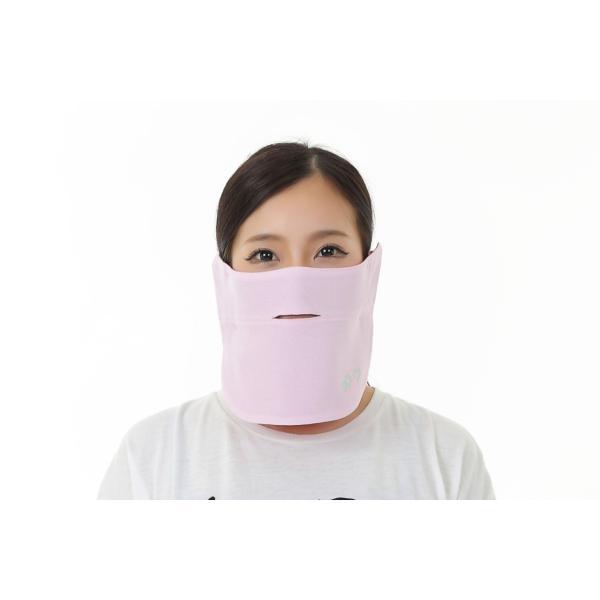 UVカットフェイスマスク 紫外線防止用ドレスマスクスポーツ お肌に優しいストレスフリー 楽呼吸 光触媒・高機能素材を二枚重ね プライムローズ/ピンクフランベ|dressmask-drema|02