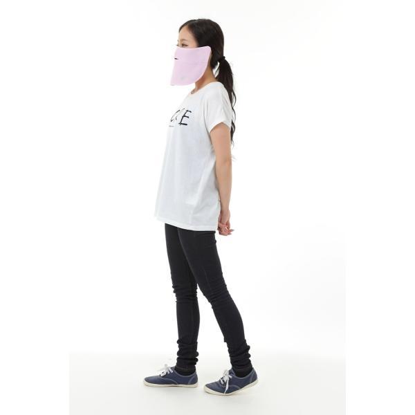 UVカットフェイスマスク 紫外線防止用ドレスマスクスポーツ お肌に優しいストレスフリー 楽呼吸 光触媒・高機能素材を二枚重ね プライムローズ/ピンクフランベ|dressmask-drema|06