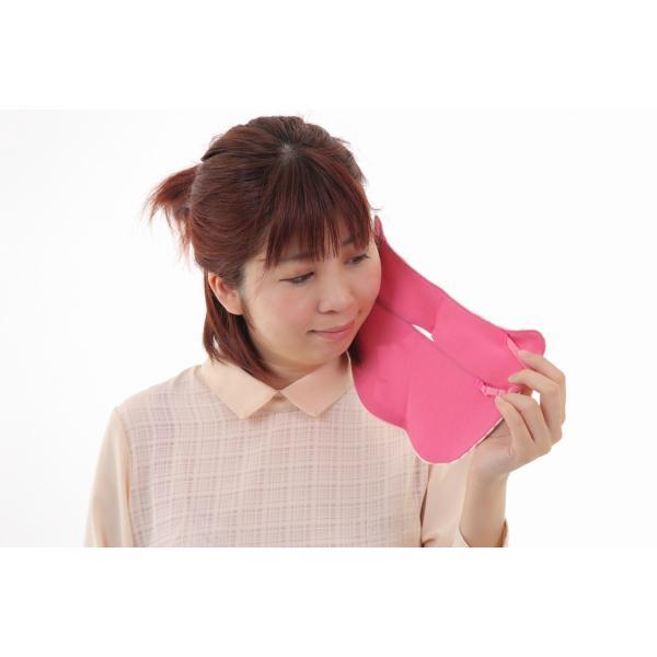 UVカットフェイスマスク 紫外線防止用ドレスマスク スポーツ&タウンカジュアル ズレにくい肌ストレスフリー  楽呼吸 光触媒 高機能性素材を二枚重ね ピンク|dressmask-drema|04