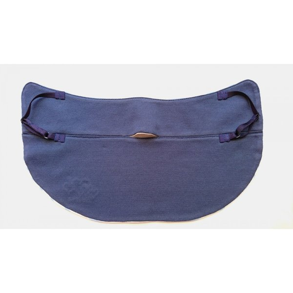 UVカットフェイスマスク 紫外線防止用ドレスマスク スポーツ&タウンカジュアル ズレにくい肌ストレスフリー 光触媒・高機能性素材を二枚重ね サックス|dressmask-drema|02