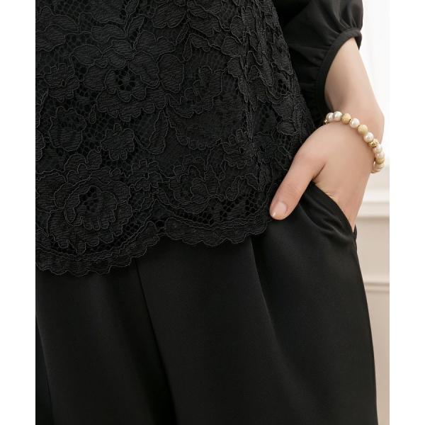 卒業式 卒園式 パンツドレス 結婚式 袖あり 大きいサイズ レース レディース ワイド パーティー ドレス セットアップ|dressstar|15