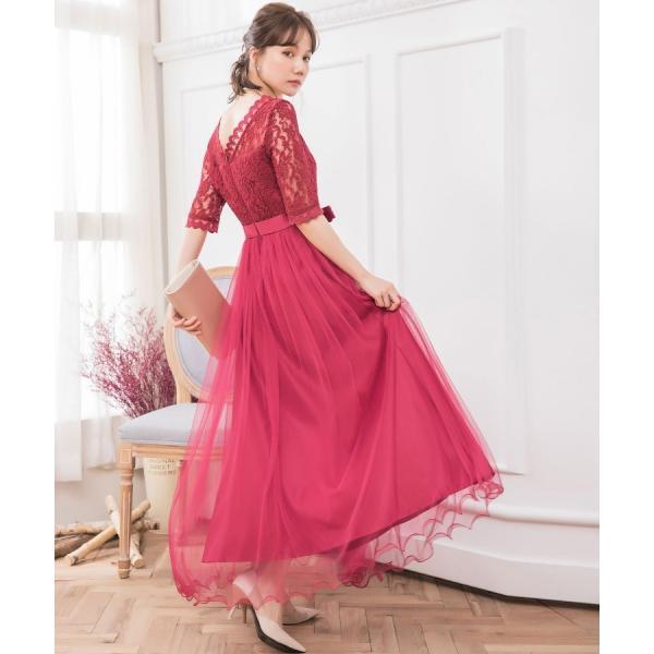 パーティードレス ロング ドレス 結婚式 お呼ばれ ワンピース オールインワン 大きいサイズ お呼ばれ マキシ|dressstar|14
