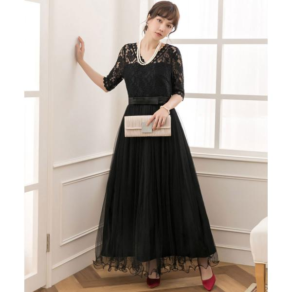 パーティードレス ロング ドレス 結婚式 お呼ばれ ワンピース オールインワン 大きいサイズ お呼ばれ マキシ|dressstar|15
