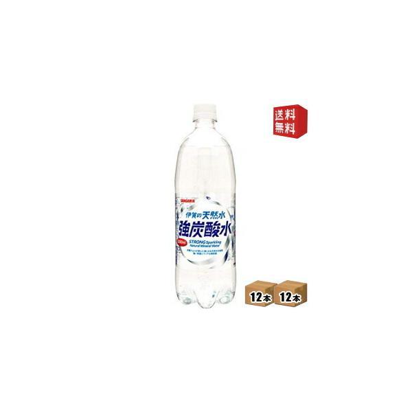 炭酸充填量5.0GV サンガリア伊賀の天然水強炭酸水1Lペットボトル24本(12本×2ケース)