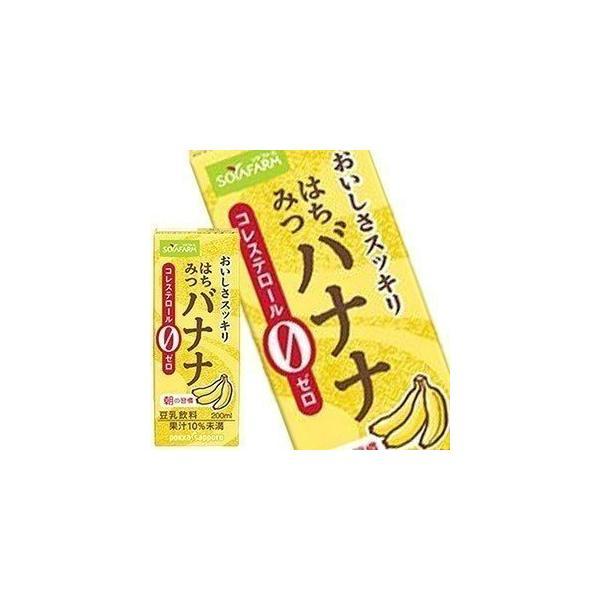 ソヤファーム おいしさスッキリはちみつバナナ豆乳飲料 200ml紙パック×24本 [賞味期限:製造より120日]  4ケース毎に送料がかかります 【10月22日出荷開始】