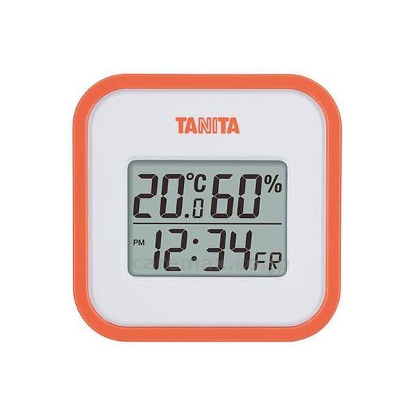 【※法人・施設限定・送料別途】デジタル温湿度計 / TT-558-OR オレンジ(cm-351229)[1個]