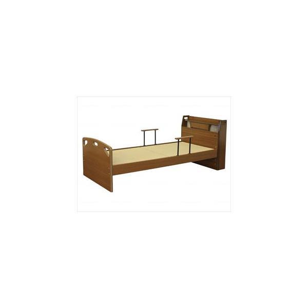 【※送料別途】【※法人・施設限定】木製畳ベッド(手摺2個付)/-/- TFB-290BR 大商産業(wf-698051)