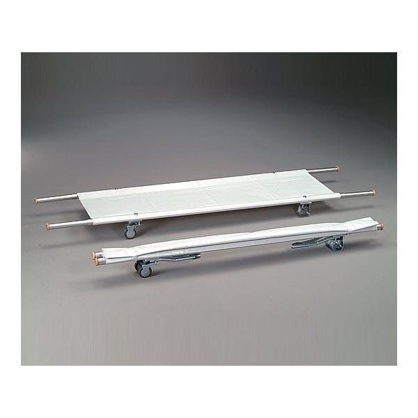 0-9542-08担架MT−8二つ折り・取手伸縮型・キャスター付きアルミ6.4kg【個】(as1-0-9542-08)