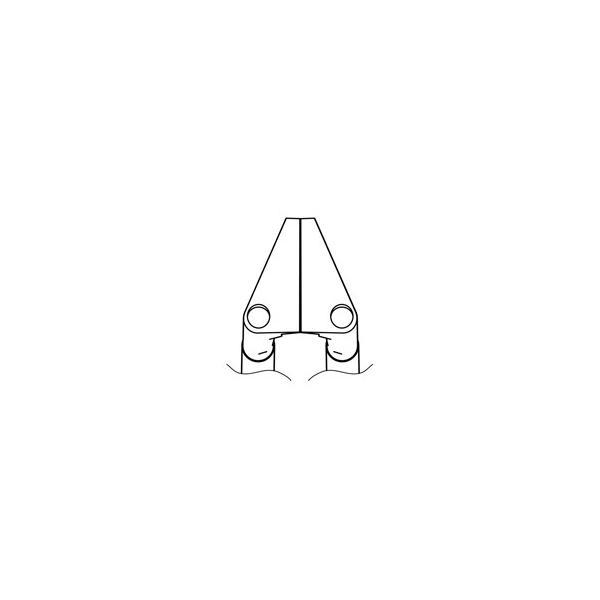 1-2786-21 サーマルワイヤストリッパー用ベント型ストレートブレード G2-1601【1個】(as1-1-2786-21)