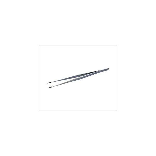 ピエゾパーツ4-2481-02 先端ゴムキャップ付ピンセット Feather Pick 140×6.5mm ストレート ST-140【1本】(as1-4-2481-02)