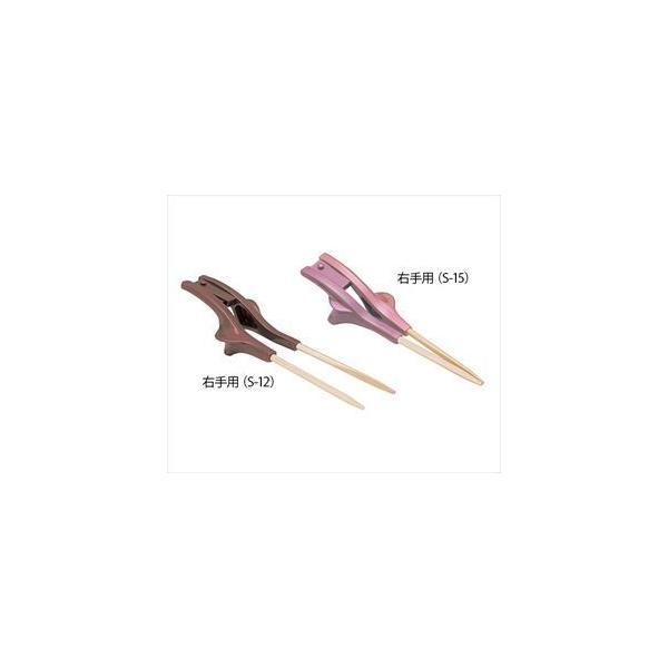 ウインド7-1559-12 箸ぞうくんクリア(自助食器) 茶色 左手用 S-13【1個】(as1-7-1559-12)